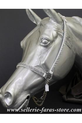 arabian horse showhalter white silver