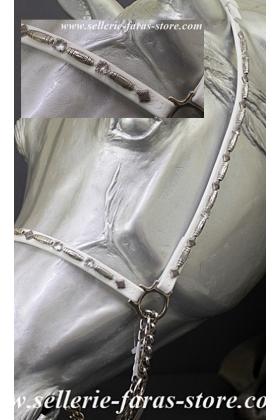 licol de show pur sang arabe perles argent et strass diamant