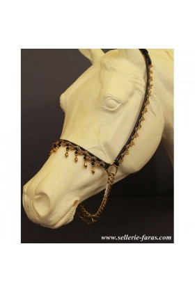 arabian horse showhalter gold beads
