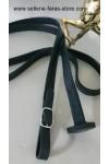Faras long leather lead 25 mm
